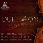 #bedshour captivating theatre @ThePlaceBedford in May - Tom Kempinskis Duet for One. https://t.co/mE0WaAfkJ2 https://t.co/F5xdJzlxHK