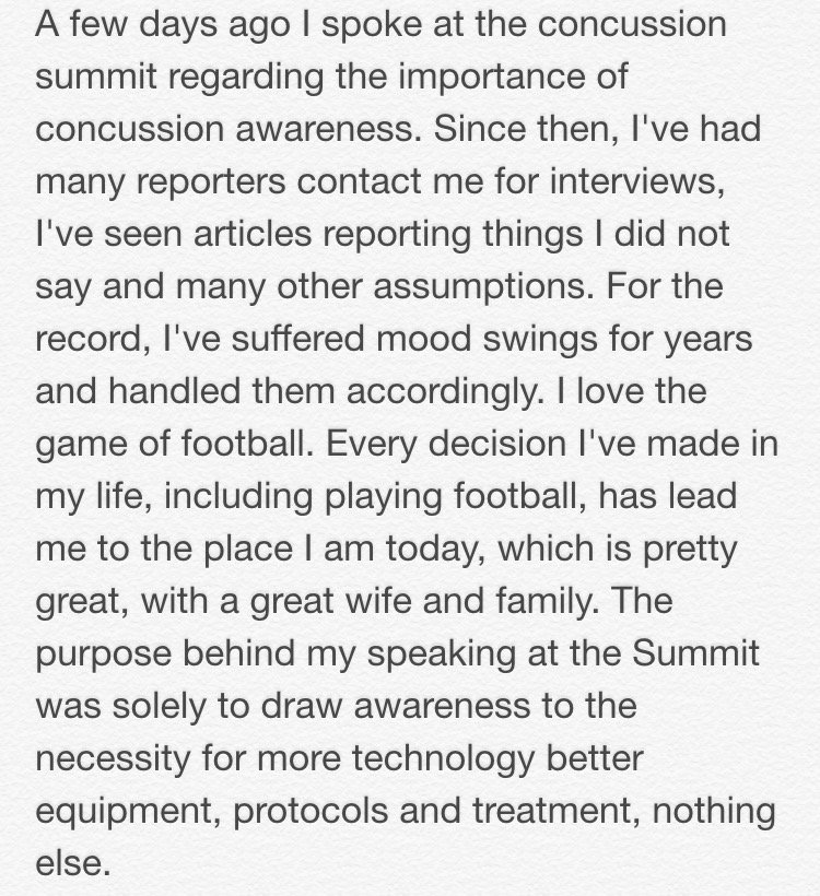 HOF Running Back @thurmanthomas sent me this text about his appearance at the concussion summit this weekend #Bills https://t.co/rZyOQyySDD