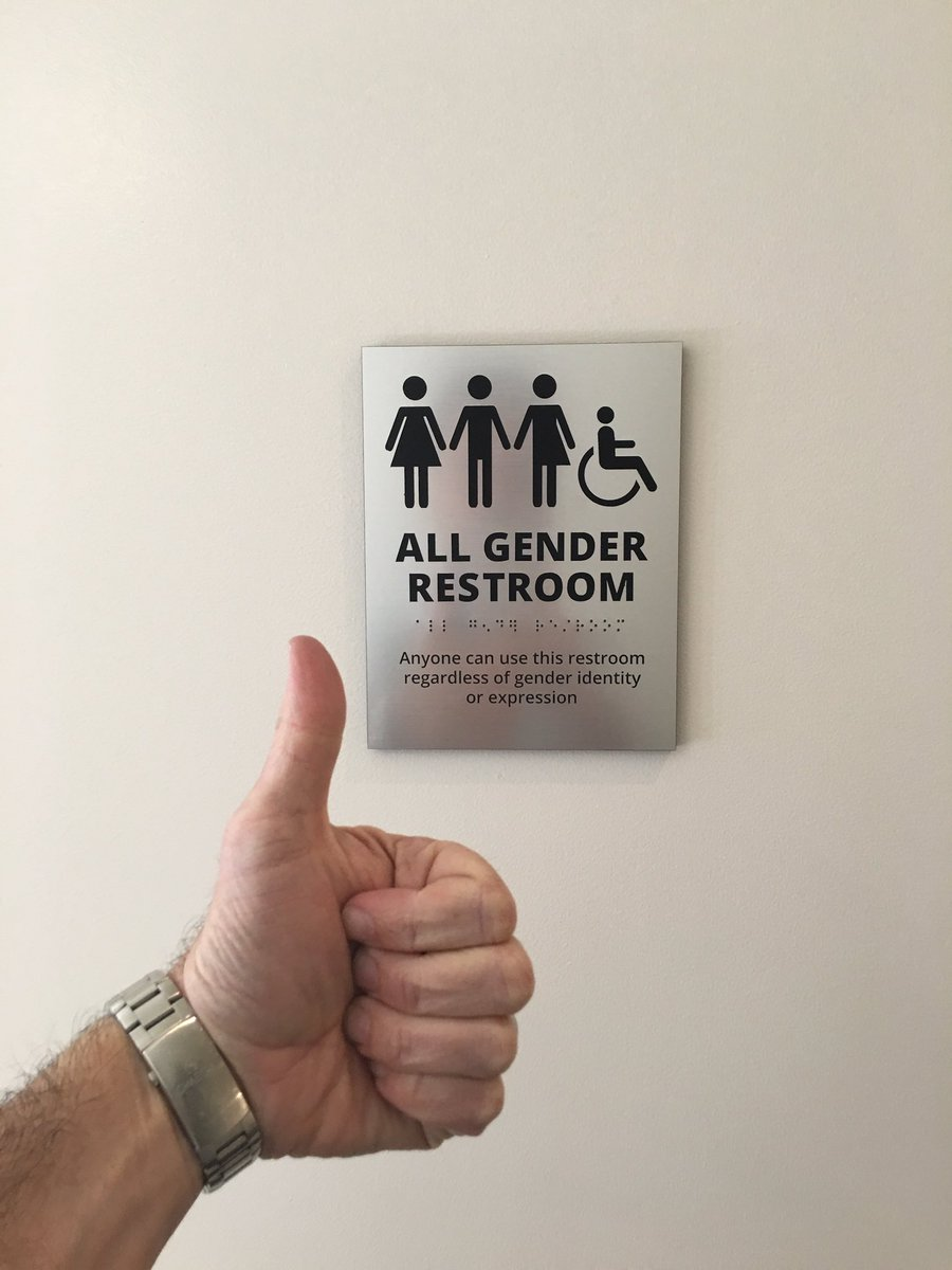 Updating our restroom signs. @DFJvc supports equal rights for all. https://t.co/C9udOnf4PJ