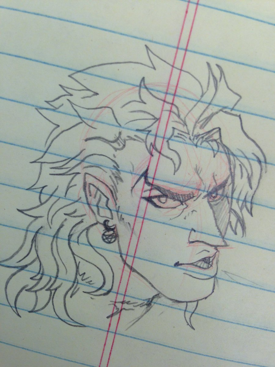 I drew a Dio. https://t.co/trATBFzCHg