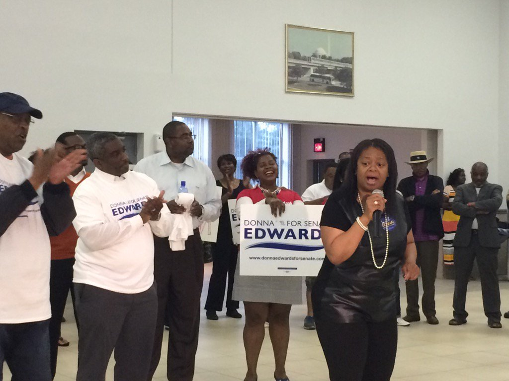 """""""If we can fight and get @DonnaFEdwards elected, we'll get that seat at the table that we need."""" #mdsen https://t.co/LHUYcrKbtp"""