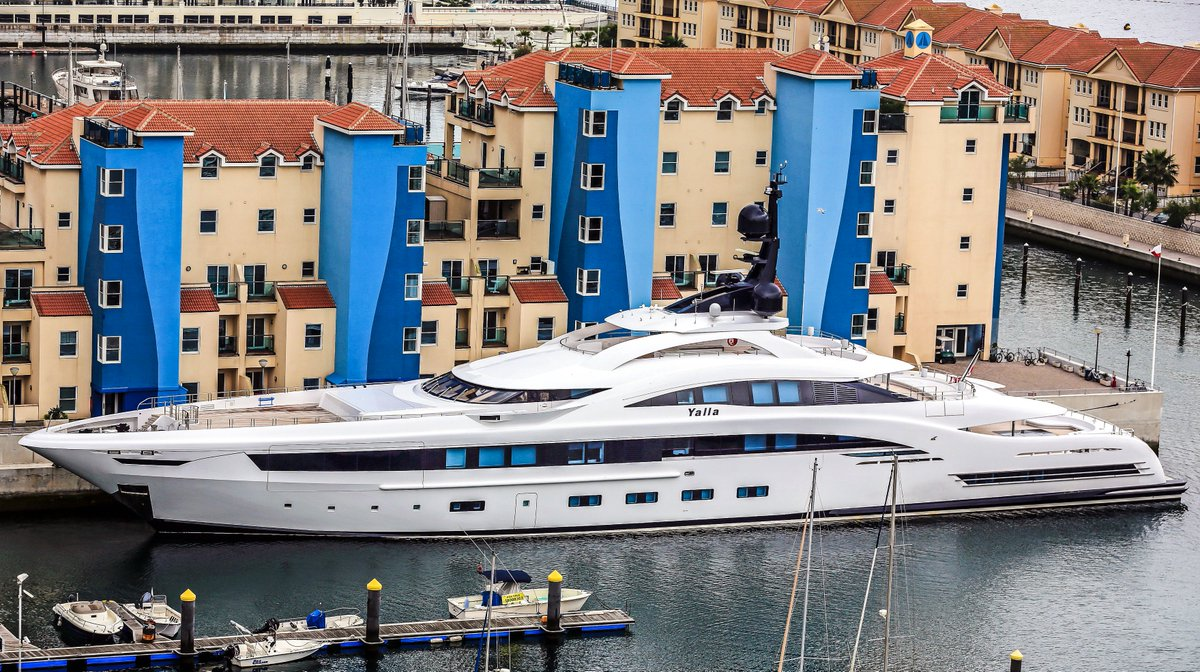 The stunning 73m CRN #superyacht Yalla in Gibraltar as our Photo of the Day. Photo taken by Moshi Anahory. https://t.co/sUhxmwqCvj