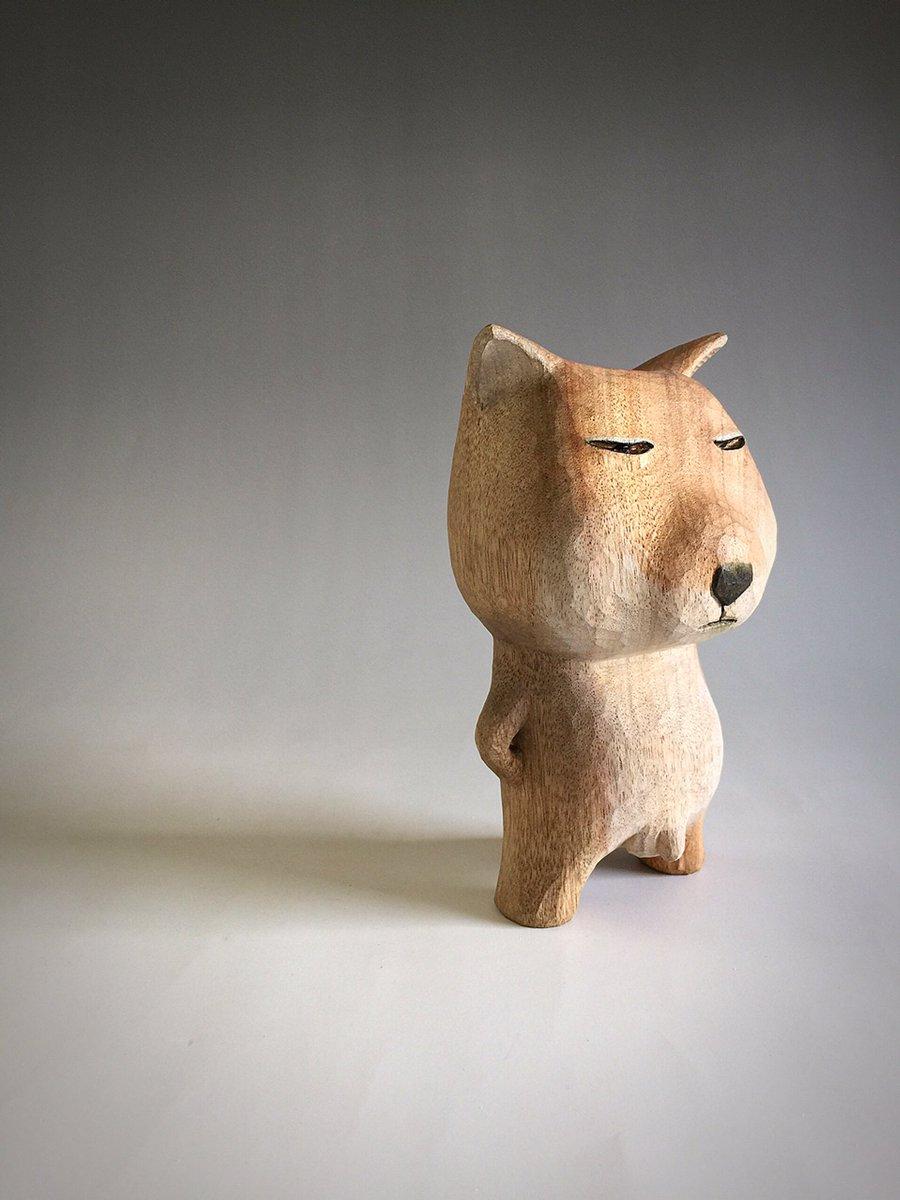 木彫 チベットスナギツネが完成しました。