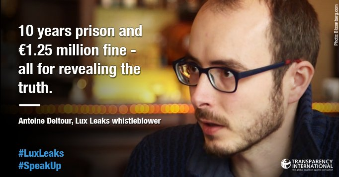 #LuxLeaks trial ended for today. We support Deltour. #Whistleblowers are brave -  must be protected, not prosecuted! https://t.co/vt8IAIgHTS