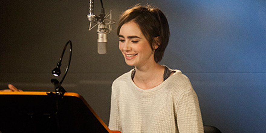 Go behind the scenes with @lilycollins during her Peter Pan audiobook recording session