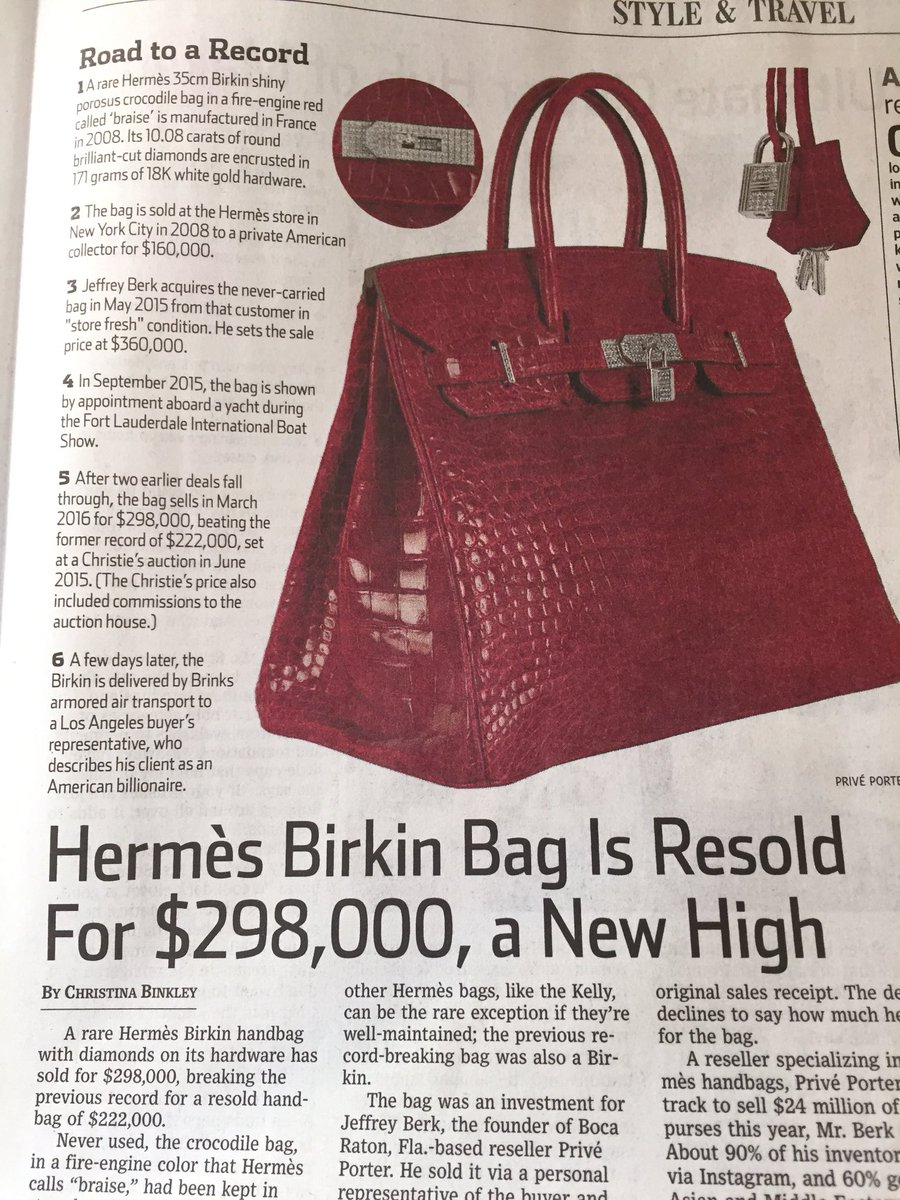birkin luggage hermes - Rare birkin bag from @hermes_paris has smashed the record for ...