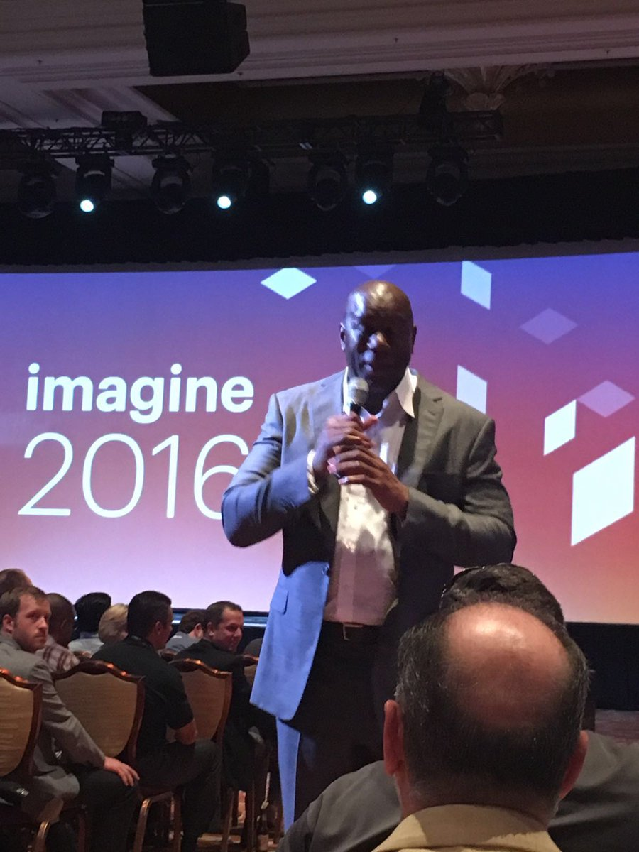 ismecompany: Magic Johnson gister op #MagentoImagine 'Always overdeliver the experience, then retention is guaranteed' #ecommerce https://t.co/Ug8kwWvHO5
