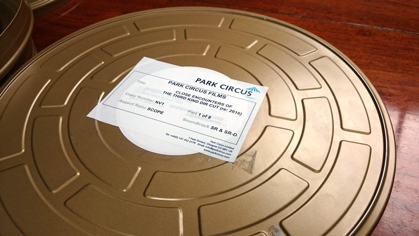 Look what just landed: the new 35mm print of Close Encounters, ready for its exclusive run @BFI from 27 May! https://t.co/2kyjdHmc3S