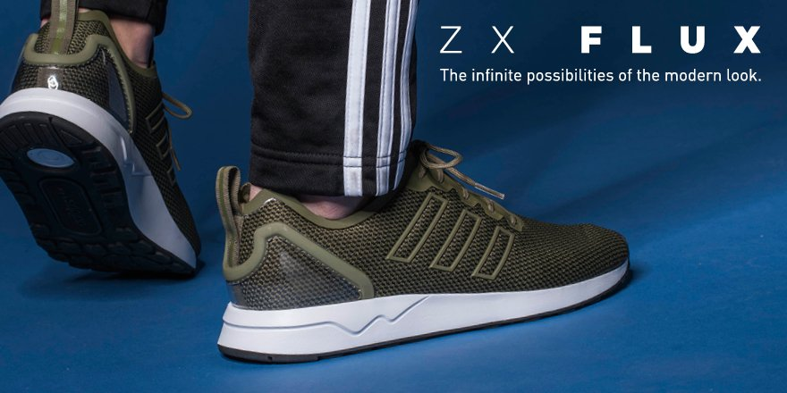 Uncompromised visual simplicity. The #adidasOriginals #ZXFLUX drops today, instore/online https://t.co/20wR886DTO https://t.co/2DBHYKQImY