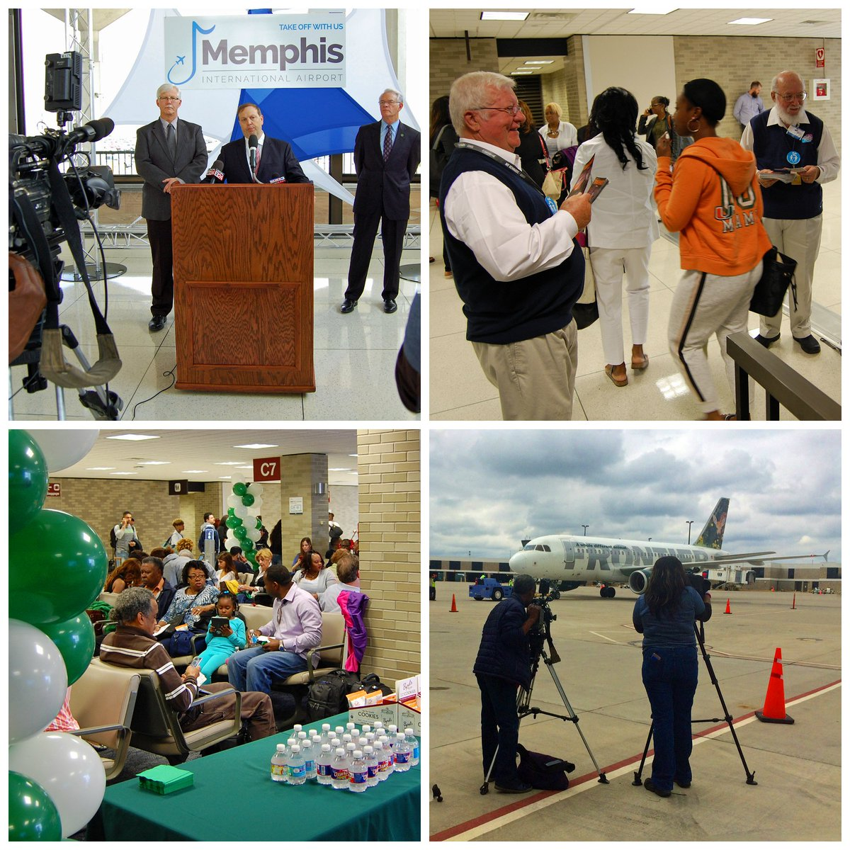 RT @flymemphis: Today @FlyFrontier launched service to Atlanta with some fanfare and a full flight!