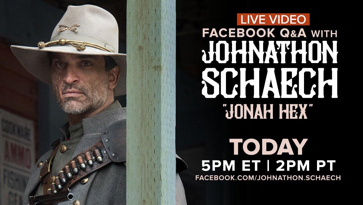 I'm doing a Live Video Q&A TODAY at 5PM ET / 2PM PT https://t.co/1jqphEw1ts #JonahHex #LegendsOfTomorrow #LoT https://t.co/0r2asvPhuP