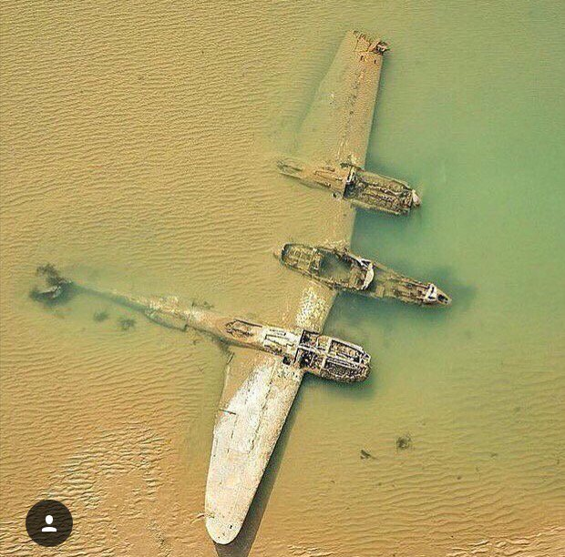 Wreck of the week: P-38 Lightning crashed off coast of Wales, 1942. PC: aviation.nation on @instagram https://t.co/bmSqgZC4VH