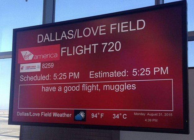 RT @BuzzFeed: This Virgin America employee writes the most hilarious signs