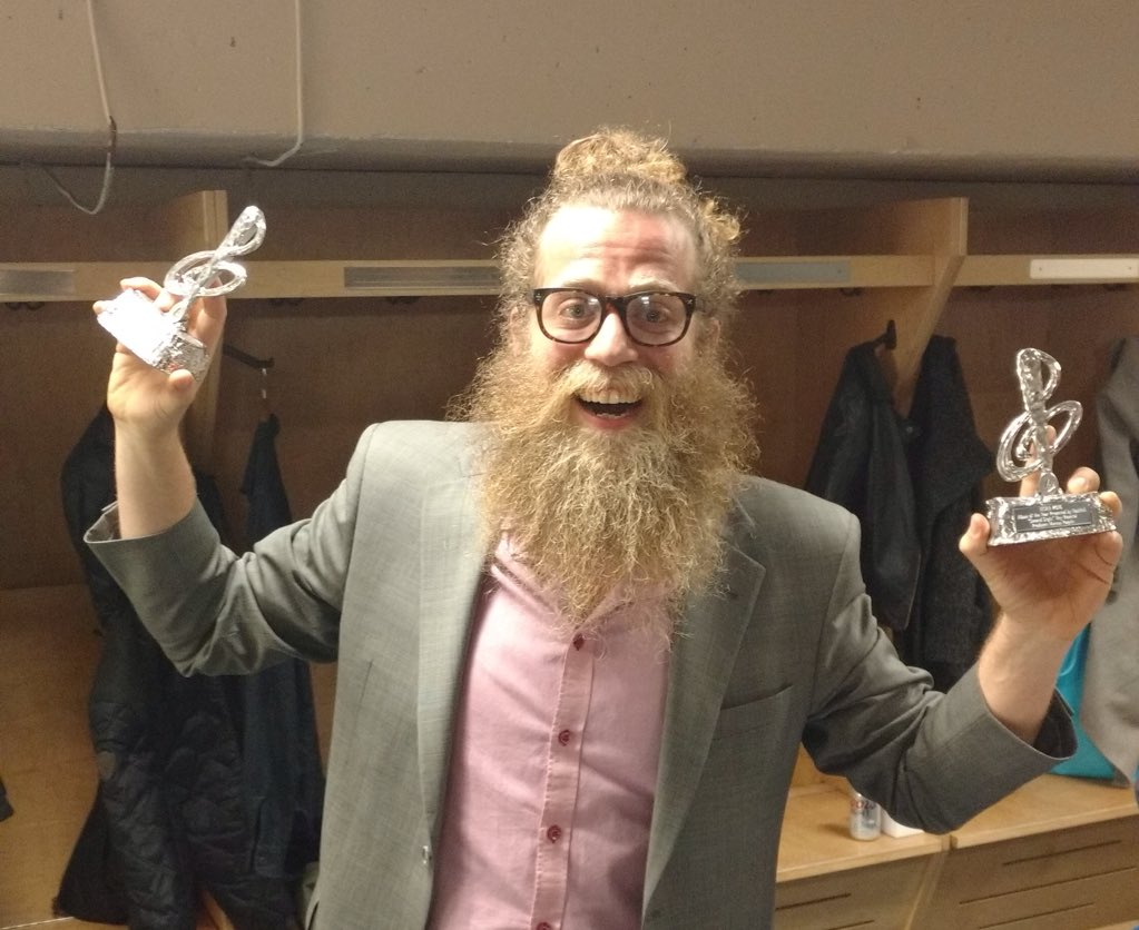 I won two @EastCoastMusic Awards!!!!  Just kidding. I won nothing. But @heyrosetta's awards are poorly guarded. https://t.co/j2xdqPwZEN