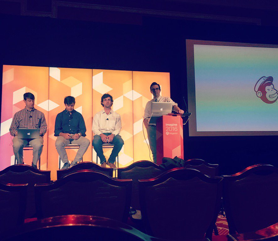 Eastmont_Group: Preparing for our presentation with @MailChimp at #MagentoImagine #TBT @markdkaufman @mgottfried @TheJustinPalmer https://t.co/MXf2SkUCU0