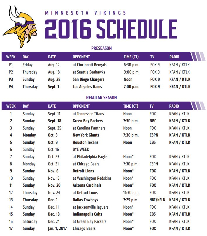 Divine image throughout minnesota vikings printable schedule