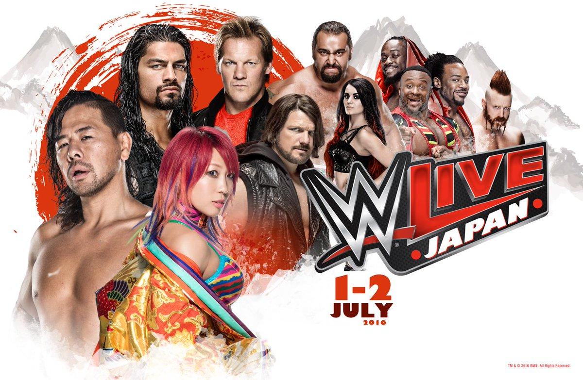 【WWE Live Japan】に日本人スーパースターが凱旋!! 中邑真輔、アスカ、AJスタイルズ参戦決定!!チケット一般発売は明日4/16(土)10:00開始!! https://t.co/eHdVn5sY5a https://t.co/jdjwNifEER