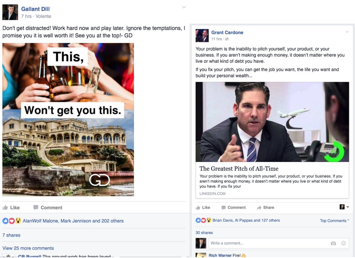 After 3 months of marketing myself on Facebook I am catching up to my idol on average posts! @GrantCardone https://t.co/1tbb001zz0