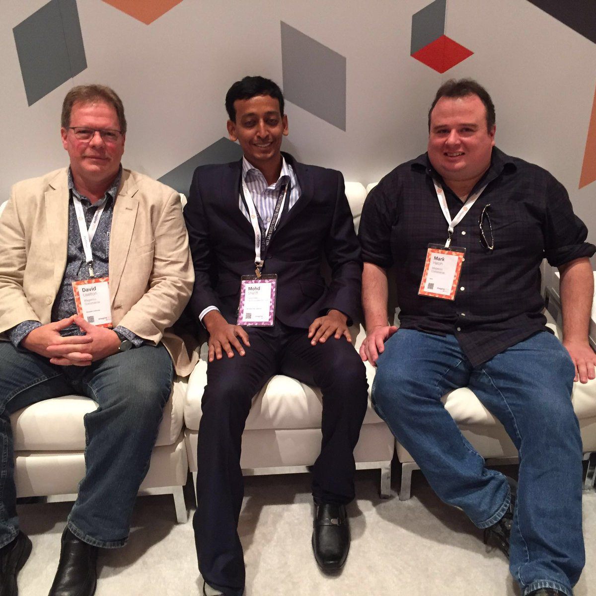 fstechno: Camaraderie @magento Mark Hatch, David Uselton and @MohdSheriffUSA #ImagineCommerce #MagentoImagine https://t.co/7hfoboJeZo