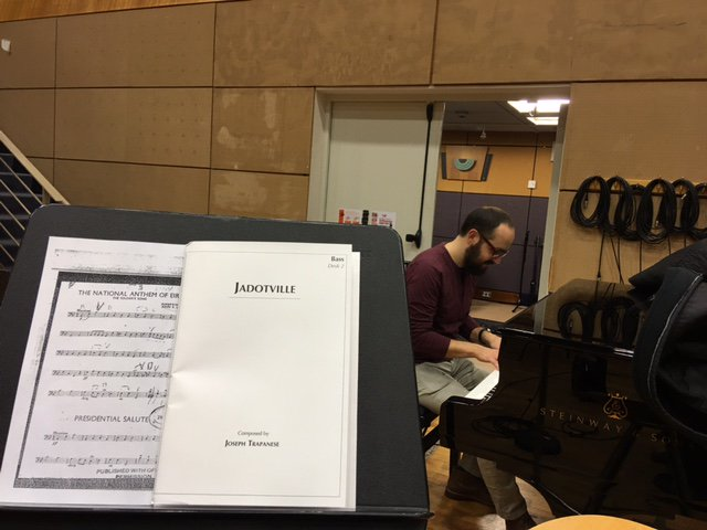 Welcome @JoeComposer! The @rte_co is recording his #Jadotville score, film about @siegejadotville with @JamieDornan https://t.co/so2JjrohAY