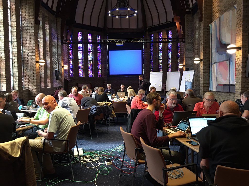 The church of #Joomla bug squashing at #jd16nl. Open source goodness. https://t.co/Utl33E8TIP