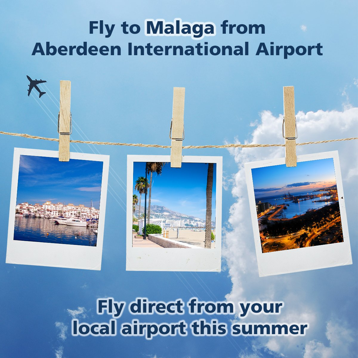 Fly direct to Malaga from your local airport this summer!