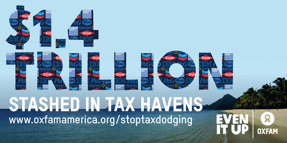 Top 50 US companies stash $1.4 TRILLION in #taxhavens. Here's what it costs poor countries → https://t.co/NkGuc0p5Wl https://t.co/Evv5MhgsWl