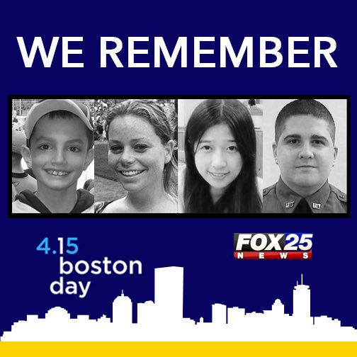 A day to reflect & honor these 4 innocent souls & all those impacted by the tragic events of 4-15-13. #OneBostonDay https://t.co/V57NVY1WWo