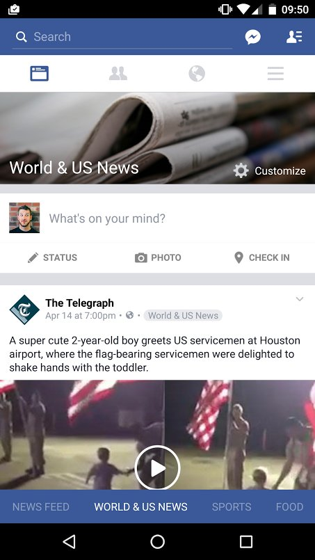 Whoah. Massive change to the Facebook news feed. Anyone else seeing this? https://t.co/EA3dFQRS6y