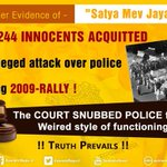Truth is indomitable. 244 innocents acquitted in 7 year old fake case. #सत्यमेव_जयते https://t.co/r16BXr5OMp
