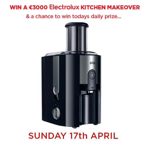 Spend €100 online or in store and you could win this Braun Whole Fruit Juicer! Enter here - https://t.co/0Q46rOUqnV https://t.co/LAMOGbHRra