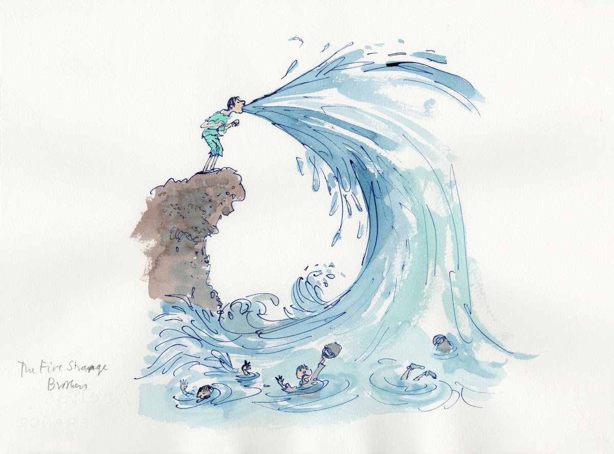 House of Illustration's Quentin Blake Gallery opens 2 weeks today! And the man himself speaks at @KingsPlace 9 May