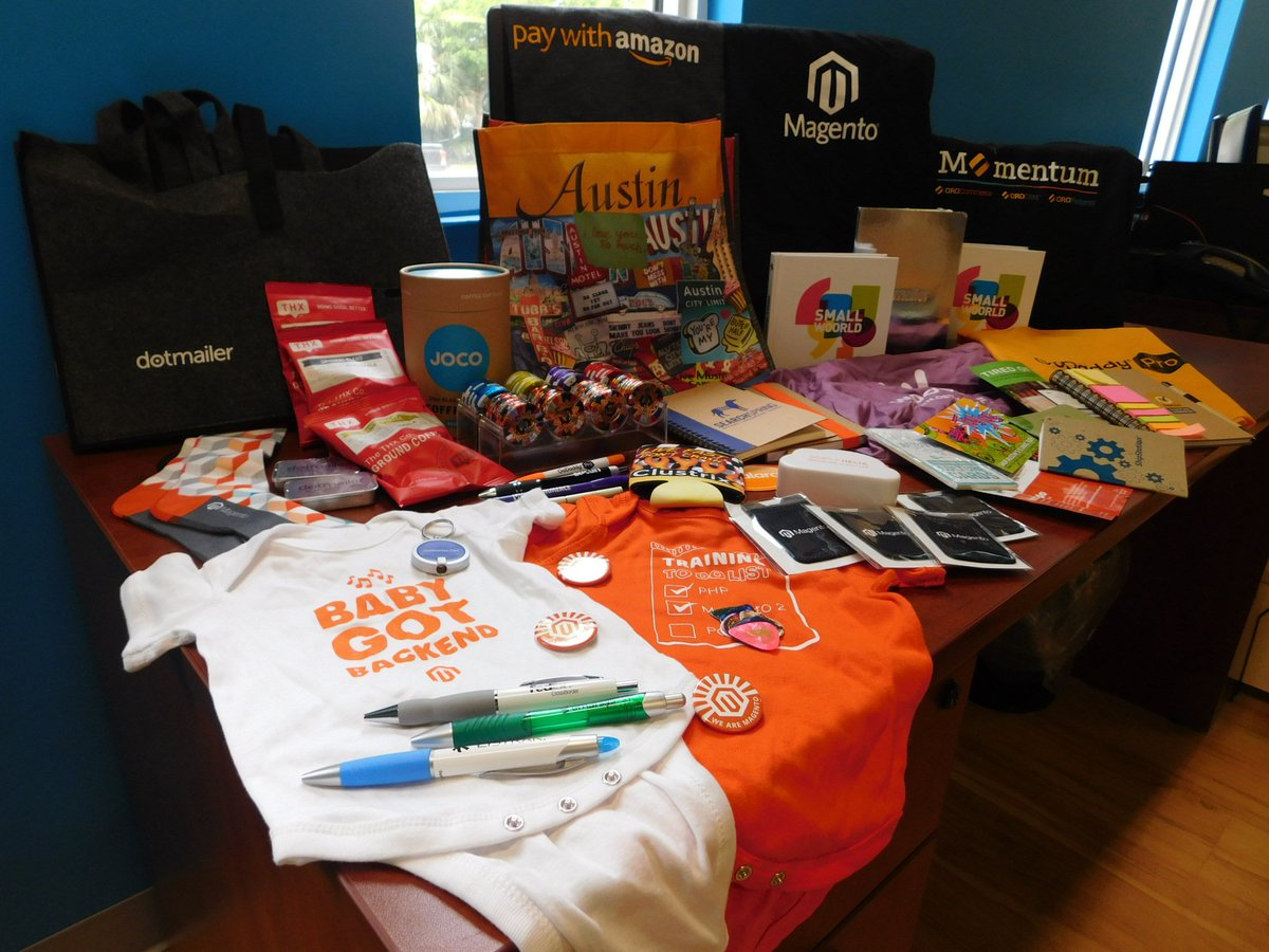 RandSEO: .@SethRand brought back lots of swag from his trip for #TeamRand!  #OroMomentum #WooConf #MagentoImagine https://t.co/fbDZsw0xPh