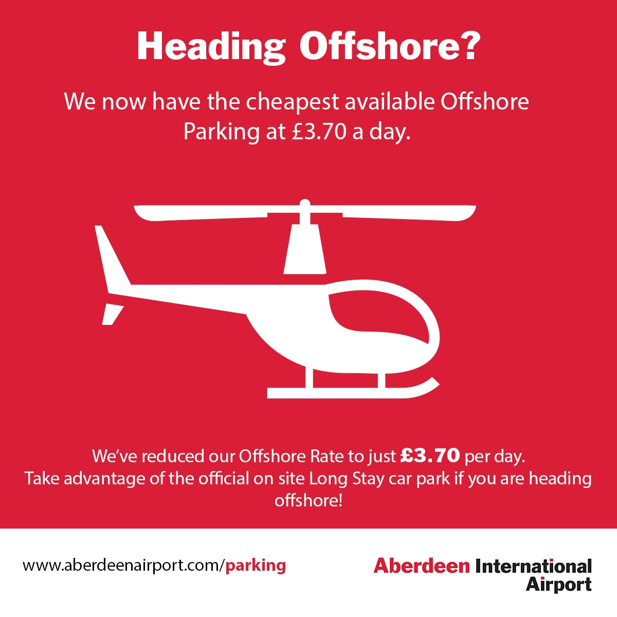 We've reduced our Offshore Rate to just £3.70 per day!