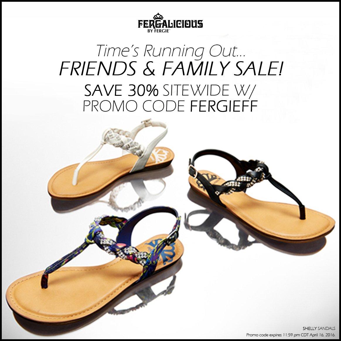 RT @FergaliciousBF: #FriendsAndFamilySale:Thru 4/16, take 30%OFF all #Fergalicious #shoes w/ #promocode FERGIEFF!https://t.co/0J30VGoyDB ht…