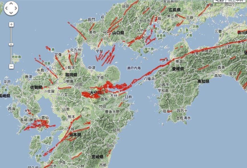 九州を大きく2つにわける中央構造線(断層帯) https://t.co/cMZap8gtxN