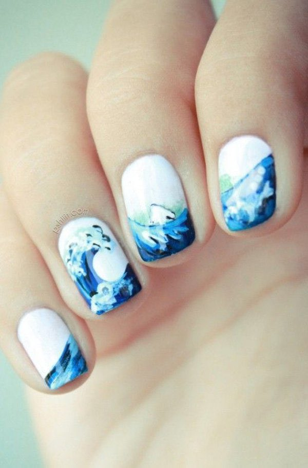 Морская тематика на ногтях рисунки