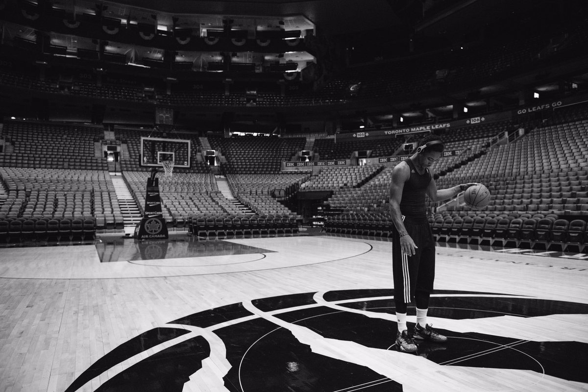 The calm before the storm. Know the ACC will be LOUD tomorrow. #WeTheNorth