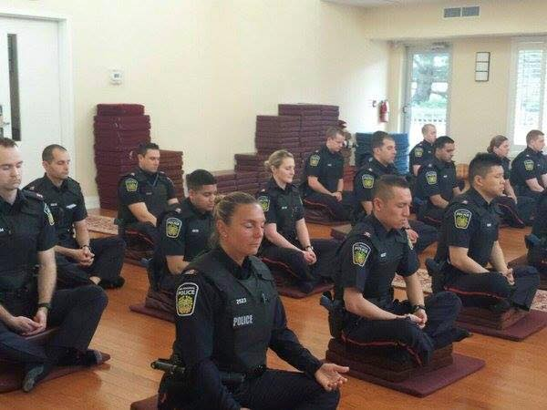 This is what I'm talking aboot... Canadian police meditating before they start their day. https://t.co/bWA1u6bF91