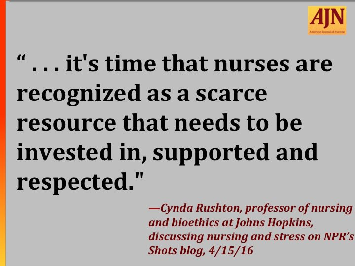 #AJNquoteoftheweek #nursing #burnout #stress #staffing Quote source: https://t.co/zyCQpWe00l https://t.co/89s52Z6XmQ