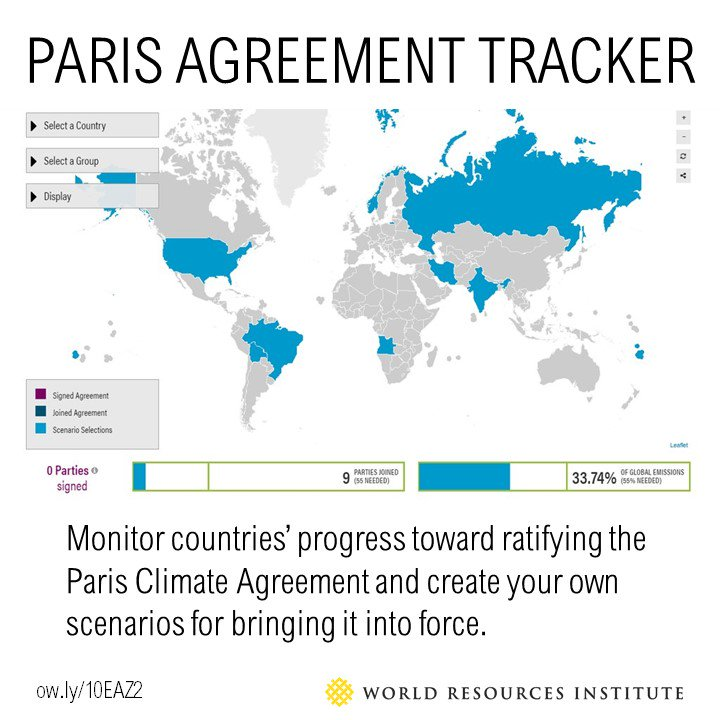 New tool allows users to monitor countries' progress toward ratifying the #ParisAgreement https://t.co/1NuyLoY7Cn https://t.co/zu8AatVKo7