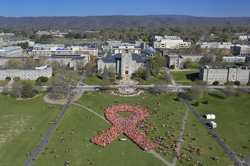 Thank you to the 10,300 Hokies who participated in the annual 3.2 Mile Run in Remembrance today. https://t.co/1Gp3j98zzH