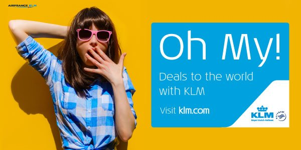 Oh My! Check out @KLM's deals from Manchester to the world, starting from only £289! Ts&Cs