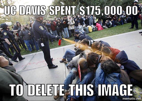 .@UCdavis @lindakatehi SO MANY better uses for $175K. Like making sure this never happens again!!! smh #PicnicDay102 https://t.co/8Ow9jvIgdJ