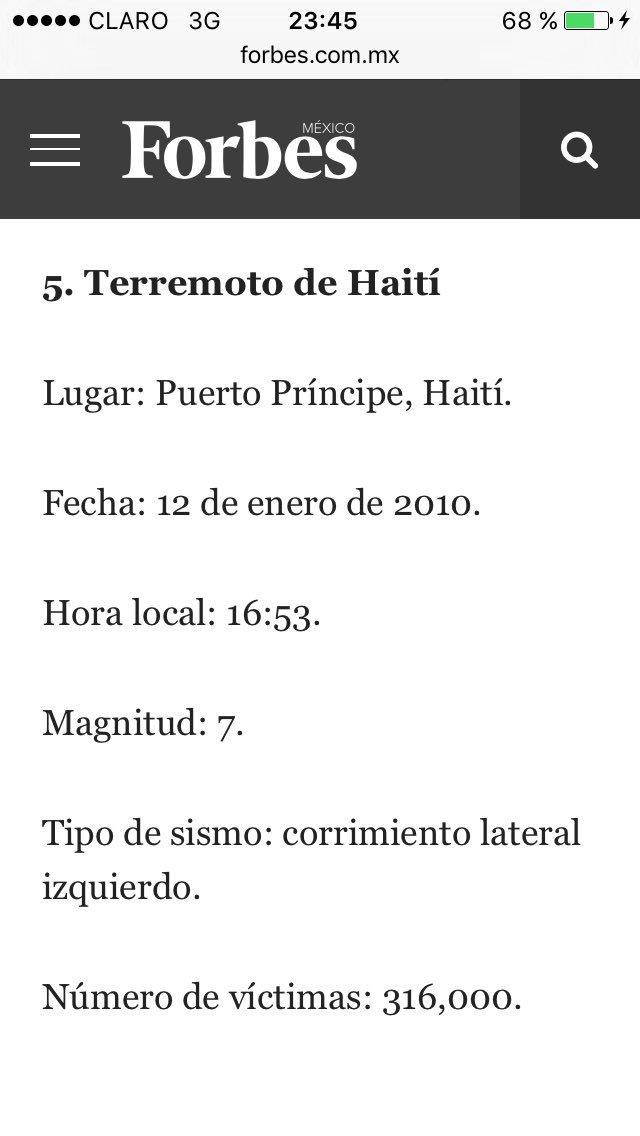 El terremoto de 2010 en Haiti fue de una magnitud menor al de hoy en Ecuador y hubo más de 300 mil víctimas. https://t.co/ehvLSRMXaq