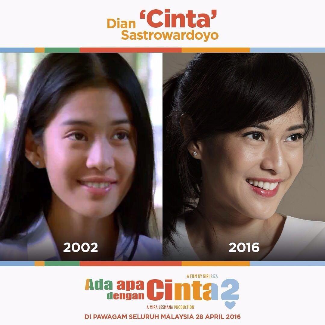 Cinta tampil lebih matang selepas 14 tahun. Adakah Cinta masih menanti kepulangan Rangga? #AADC2 #AADC2Malaysia https://t.co/J1Qcfl1U4L