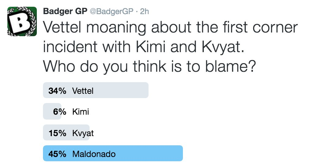 It's official; Vettel vs. Kvyat was #MaldonadosFault  #ChineseGP https://t.co/ZhCPNvnf7s