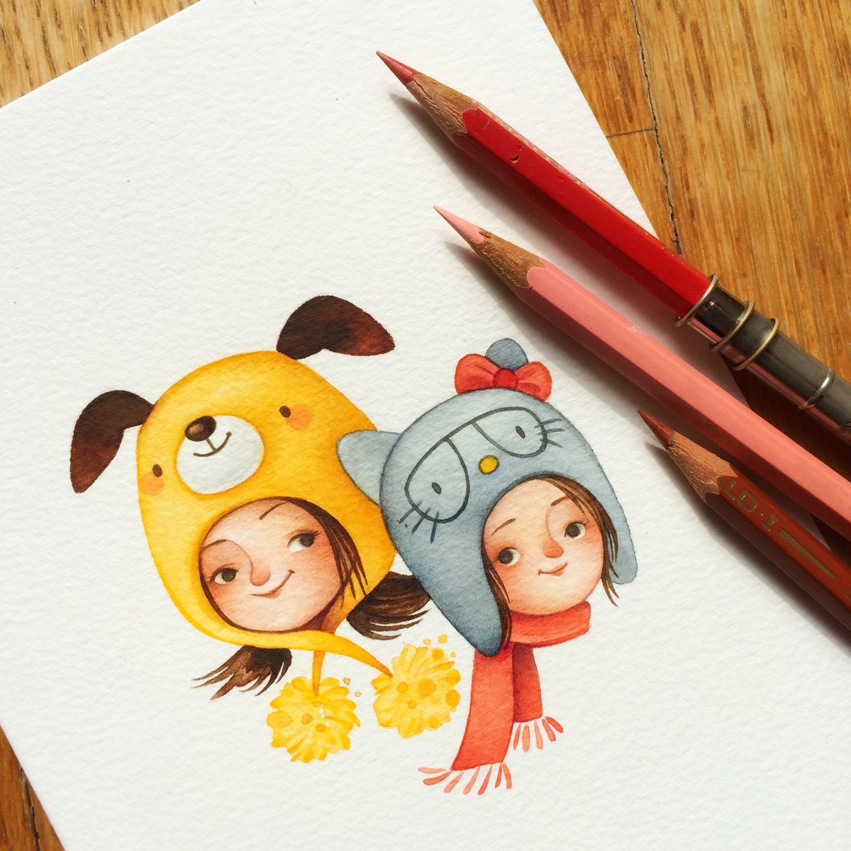 Finishing touches and it's done! #kidlitart #childrensbooks #illustration https://t.co/eaPyCubGKa