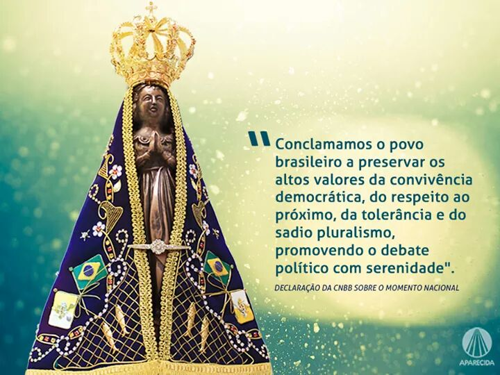 Nossa Senhora Aparecida, Padroeira do Brasil, rogue junto a Deus por este dia de decisões na política do nosso país! https://t.co/eZymzcwQMb