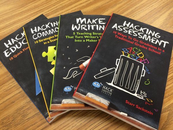 Help us #HackLearning at the live chat NOW! Retweet for a chance to win one of these amazing books. https://t.co/RHaf9lmW5z